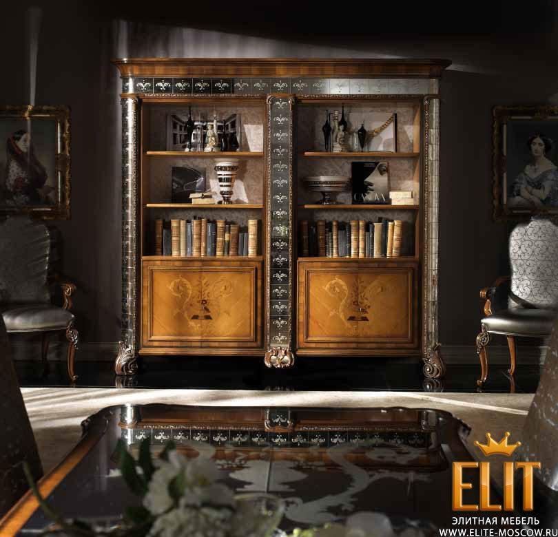 Итальянские книжные шкафы magnifico noce фабрики ebanart - i.