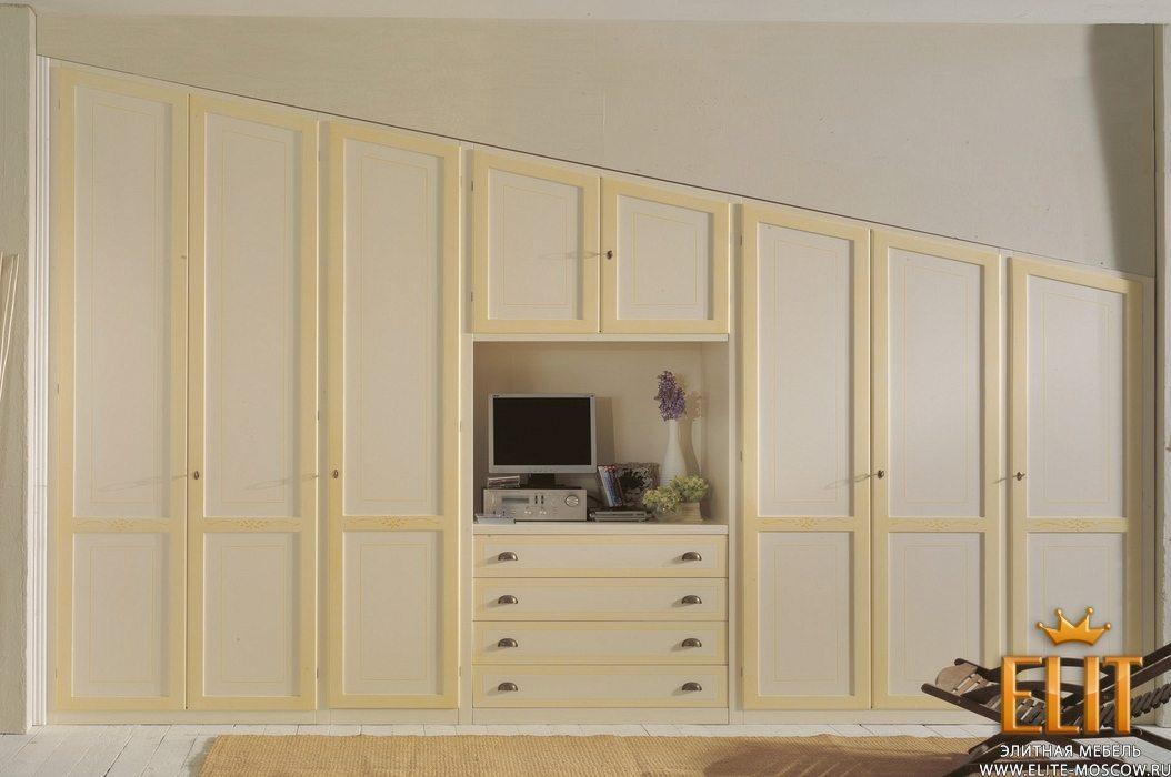 Встроенные шкафы для мансарды rt mobili tuscany - шкафы клас.